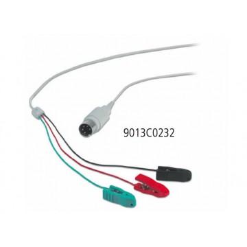 9013C0232. Kabel ekranowany HUSH z klamerkami, 1 szt.